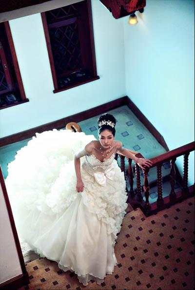 欧式复古婚纱 经典童话演绎
