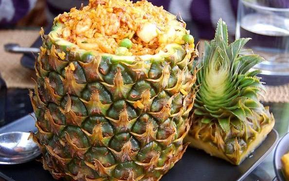 菠萝饭图片图片下载分享; 菠萝笔筒折纸图解; 一桌菜图片-9;